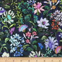 Kaufman Topia Stretch Jersey Knit Packed Floral Night