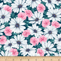 EXCLUSIVE Kaufman Wishwell Lawns Packed Floral Teal