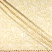 Maywood Studio Glad Tidings Metallic Elegant Paisley Cream