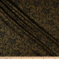 Maywood Studio Glad Tidings Metallic Elegant Paisley Black