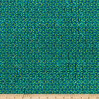 In The Beginning Fabrics Cosmos By Jason Yenter Facet Teal