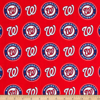 MLB Cotton Broadcloth Washington Nationals Red