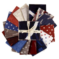Clothworks Home of the Free Fat Quarter Pack 14 Pcs Multi