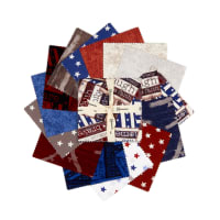 "Clothworks Home of the Free 5"" Squares 42pcs Multi"