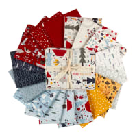 Clothworks Little Red Fat Quarter Pack 18 Pcs Multi