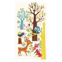 "Clothworks Forest Babes 24"" Panel Multi Color"