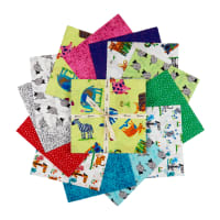 "Clothworks Animal Magic 10"" Squares 42pcs Multi"