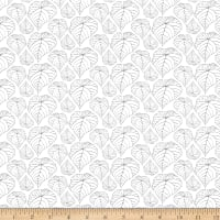 Clothworks Ivory Woods Toss White