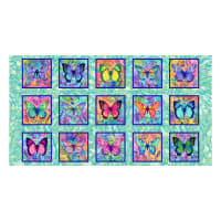Butterfly Paradise Butterfly Blocks Aquamarine