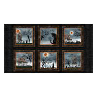 "Harvest Moon Blocks 24"" Panel Black"