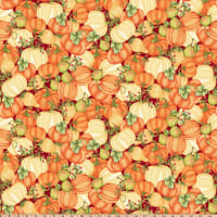 Pumpkin Spice Large Tossed Pumpkins Red