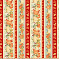 Pumpkin Spice Border Stripe Multi
