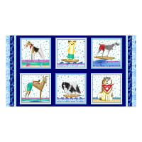 """Surfin' Hounds 24"""" Panel Multi"""