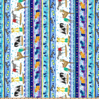 Surfin' Hounds Novelty Dog Stripe Multi