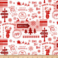Christmas Memories Words And Holiday Motifs Red/White