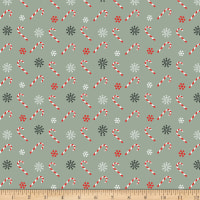 Christmas Memories Tossed Candy Canes Teal