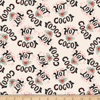 Christmas Memories Hot Cocoa Cups And Words Tossed Multi