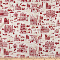 Home For The Holidays Town Scenery Cream