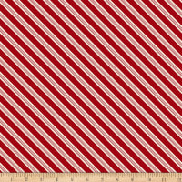 Home For The Holidays Diagonal Stripe Red