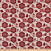 Home For The Holidays Holiday Honeycomb Red