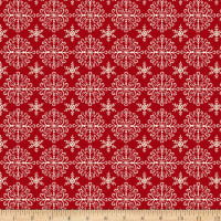 Home For The Holidays Set Snowflakes Red