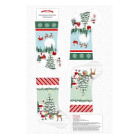 "Peace And Goodwill Stocking 30"" Panel Green/ Red"