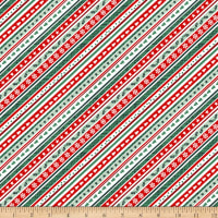 Peace And Goodwill Diagonal Stripe Green/Red