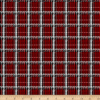 Midwinter Song Woven Plaid Red