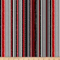 Midwinter Song Stripe Black Red