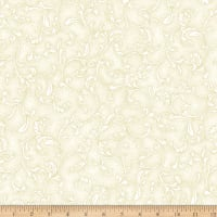 Hoffman Metallic Holiday Decadence Fleur Scroll Natural Gold