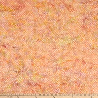 Batik By Mirah Cloudberry Small Triangles Peachy Bud
