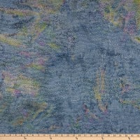 Batik By Mirah Fairy Grey Wavy Dots Hens & Chicks