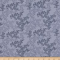 "108"" Extra-Wide 100% Cotton Leaves  Navy"