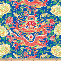 FreeSpirit Silk Road Dragon & Peony Blue