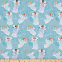 Paintbrush Studios Christmas Peace Vintage Angels Light Blue