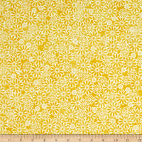 Fabric Traditions Textured Daisy Yellow