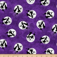 Booville Glow in the Dark Flying Witches Purple