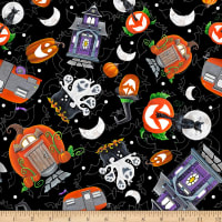 Booville Glow in the Dark Tossed Halloween Elements Black