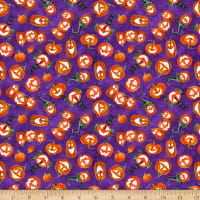 Booville Glow in the Dark Tossed Pumpkins Purple