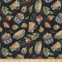 Rake & Bake Tossed Fall Motifs Black