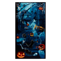 "Thriller Night Glow In The Dark Halloween 36"" Panel Slate"