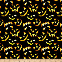 Thriller Night Glow in the Dark Jack-o-lanterns Black