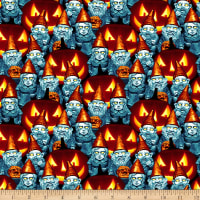 Thriller Night Glow in the Dark Halloween Gnomes Orange