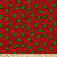Giddy Up Santa! Tossed Christmas Tree Red