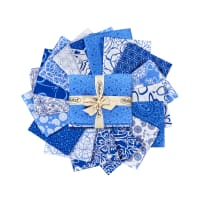 Blue Bayou Assorted Fat Quarters 17pcs Multi