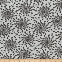 Stoffabric Denmark Avalana Jacquard Stretch Knit Flowers Grey Black