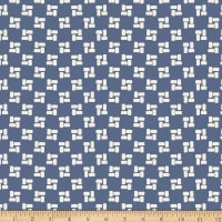 Stoffabric Denmark Avalana Jersey Viscose Square Design Blue