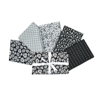 Riley Blake Black and White 1 Yard Cut Bundles - 5 Prints