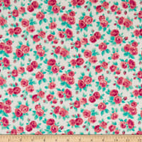 Liberty of London High Summer Flower Show Ascot Rose Teal/Bright Pink