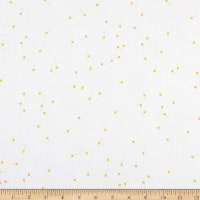 Riley Blake Designs Pin Drop On White Color Yellow Sparkle